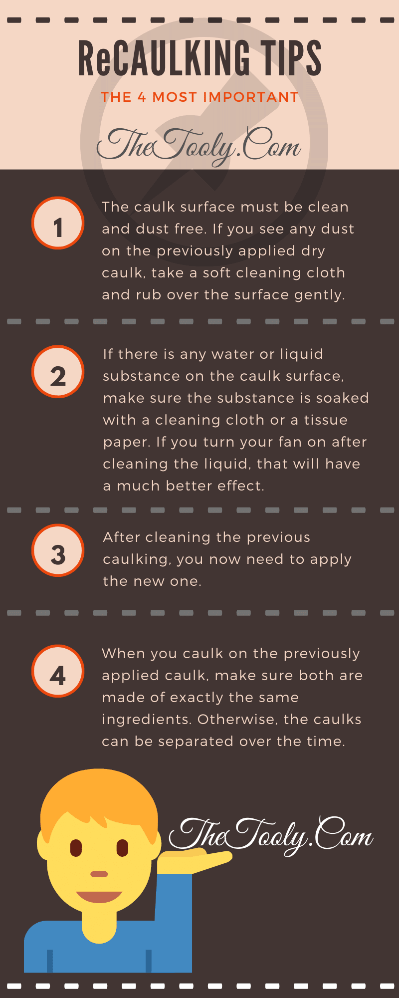 recaulking tips infographic