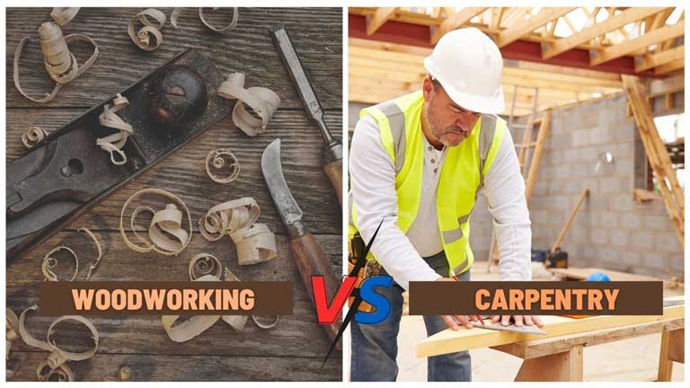 Woodworker vs carpenter difference